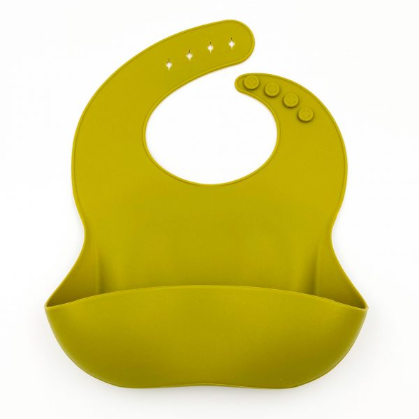 Silicone Bibs Olive
