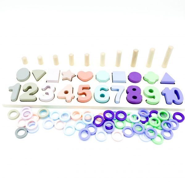 Shape and Number Stacking Board