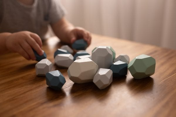 Stacking Wooden Gems 16 pieces