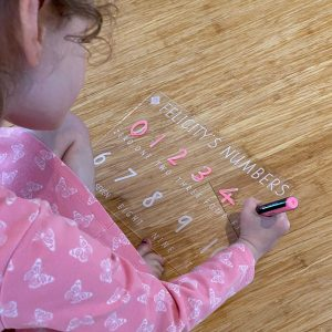 Personalised Numbers Learning Tracing Board
