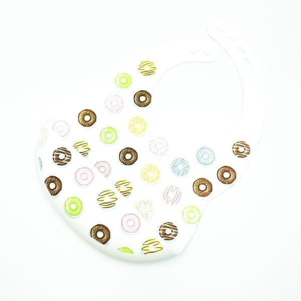 Patterned Silicone Bibs Donut Worry