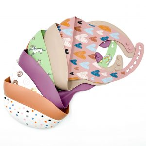 Patterned Silicone Bibs