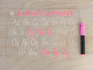 Personalised Alphabet Learning Tracing Board