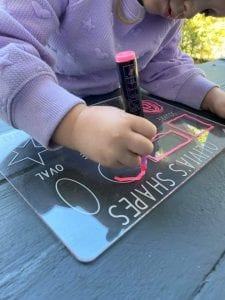 Personalised Shapes Learning Tracing Board