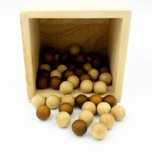 2 Tone Wooden Balls - Set of 50