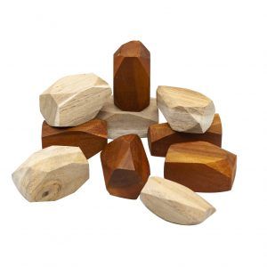 Two Tone Wooden Gems