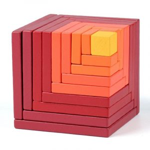 Red Spatial Cube