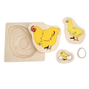 Chicken Lifecycle Layered Puzzle - Kids Puzzle Toys