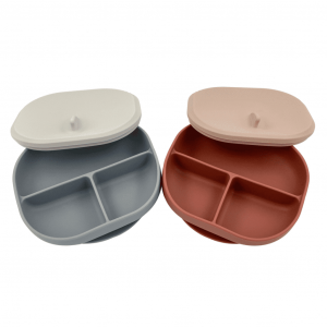Silicone Suction Plate with Lid