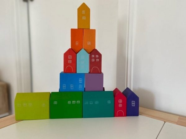 Wooden Coloured Houses