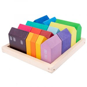 Wooden Rainbow Houses