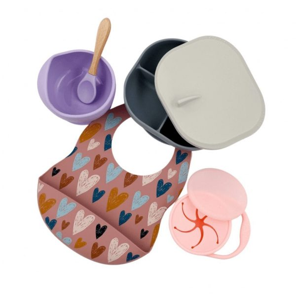Ultimate Feeding Bundle - Baby Bowls and Plate - Baby Bibs