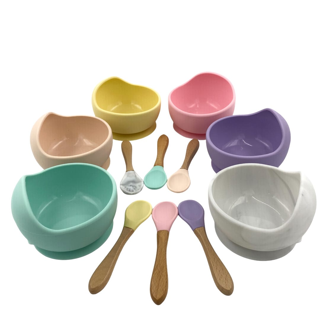 Silicone Suction Bowl and Spoon Set
