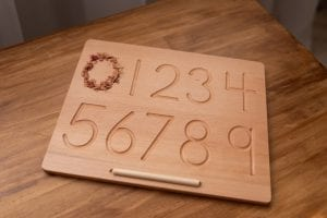 wooden alphabet tracing boards