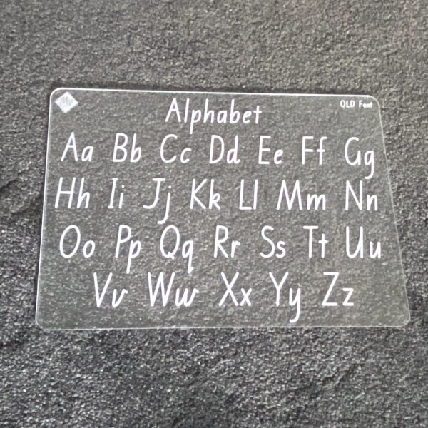 State Font Alphabet Learning Board