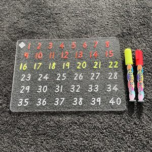 1 - 40 Numbers Learning Tracing Board