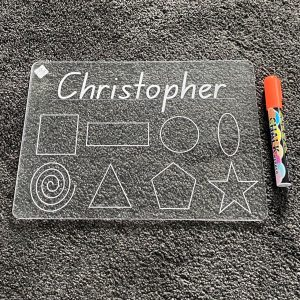 Personalised First Name Shapes Learning Tracing Board