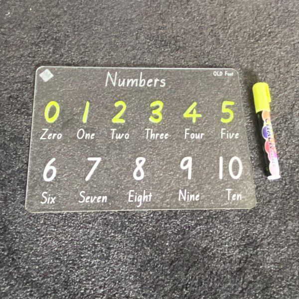 State Font Numbers Learning Board