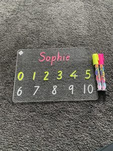 Personalised First Name Numbers Learning Tracing Board
