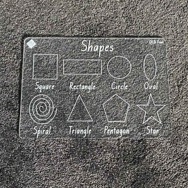 State Font Shapes Learning Board